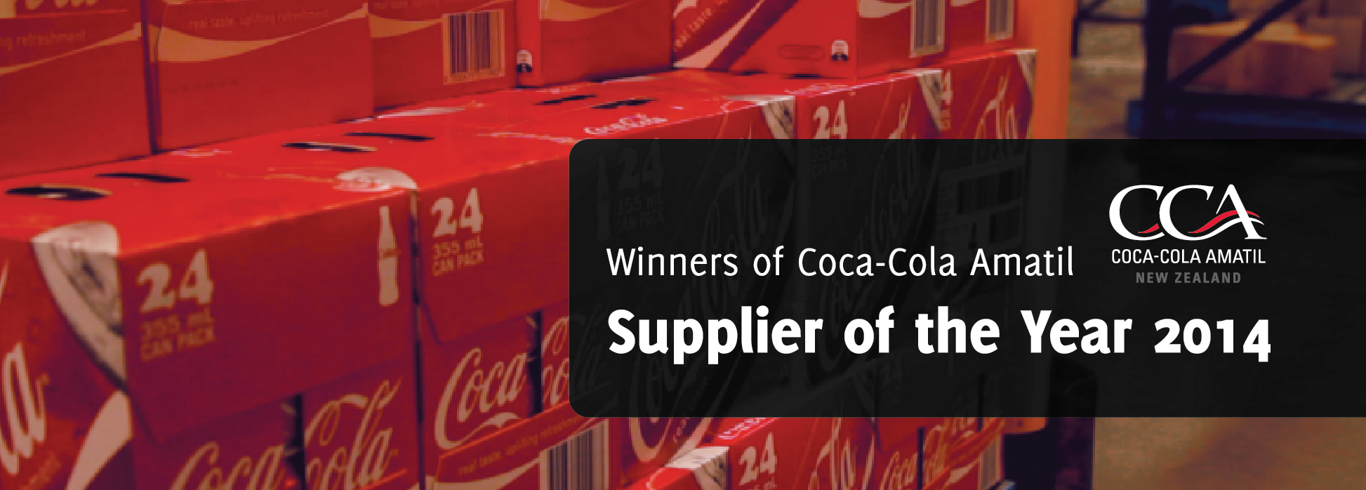 CCA Supplier of the Year 2014